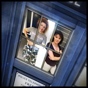 Professor River Song (Alex Kingston) and Professor Bernice Summerfield (Lisa Bowerman)