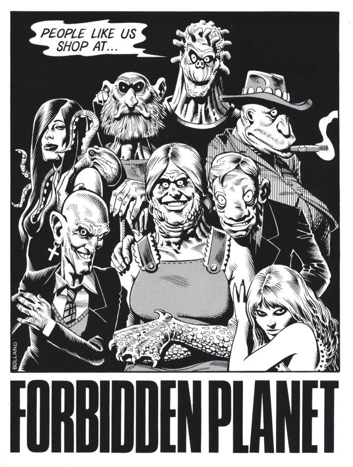 Forbidden Planet illustration by Brian Bolland