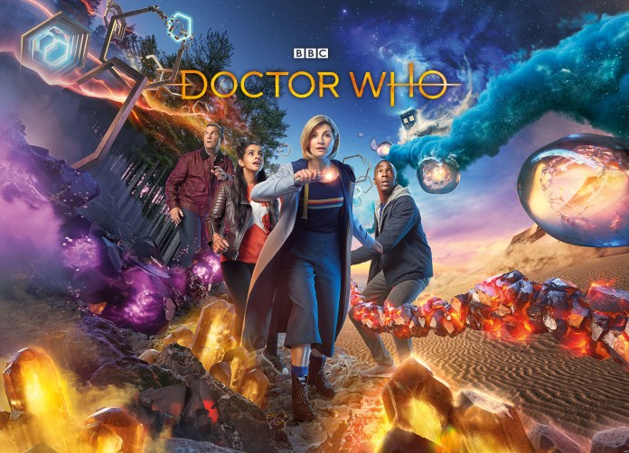 Doctor Who Series 11 - Episode 1 - Graham (BRADLEY WALSH), Yaz (MANDIP GILL), The Doctor (JODIE WHITTAKER), Ryan (TOSIN COLE) - (C) BBC / BBC Studios - Photographer: Henrik Knudsen