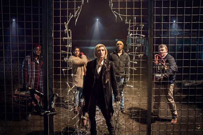 Doctor Who - Series 11 - Episode 1 - The Woman Who Fell To Earth - Grace (SHARON D CLARKE), Yaz (MANDIP GILL), The Doctor (JODIE WHITTAKER), Ryan (TOSIN COLE), Graham (BRADLEY WALSH) - (C) BBC/BBC Studios - Photographer: Ben Blackall