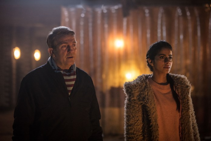 Doctor Who - Series 11 - Episode 1 - The Woman Who Fell To Earth - Graham (BRADLEY WALSH), Yaz (MANDIP GILL) - (C) BBC / BBC Studios - Photographer: Ben Blackall