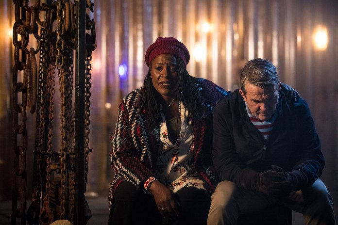 Doctor Who - Series 11 - Episode 1 - The Woman Who Fell To Earth - Grace (SHARON D CLARKE), Graham (BRADLEY WALSH) - (C) BBC / BBC Studios - Photographer: Sophie Mutevelian