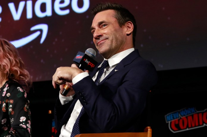 Jon Hamm 'Good Omens' TV show panel, New York Comic Con, USA - 06 Oct 2018 - Photo By MediaPunch