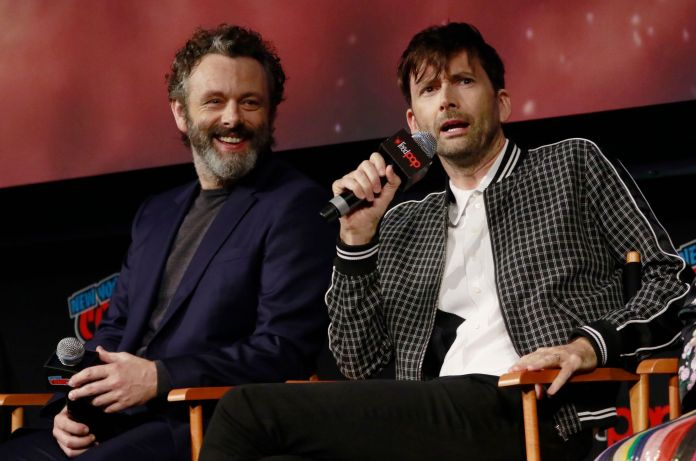 Michael Sheen and David Tennant 'Good Omens' TV show panel, New York Comic Con, USA - 06 Oct 2018 - Photo by MediaPunch