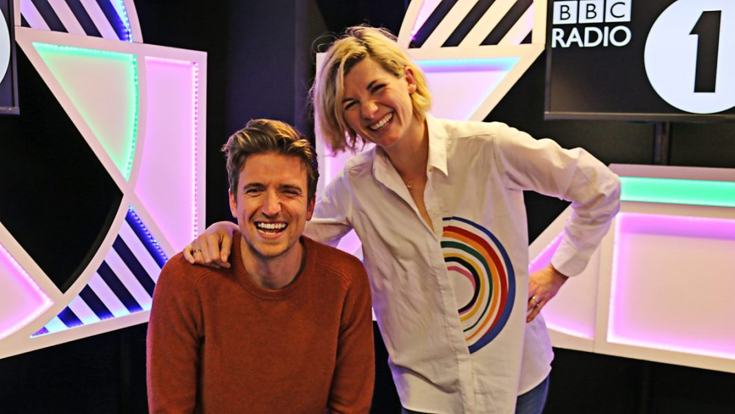 Greg James & Jodie Whittaker - BBC Radio 1 - 3 October 2018 - (c) BBC