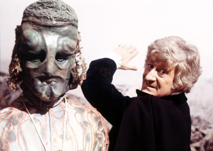 The Third Doctor unleashes his Venusian Akido on an unsuspecting alien in Colony in Space (1971) (c) BBC