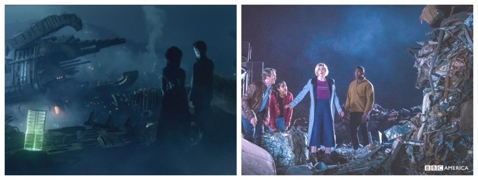 House, the living TARDIS junkyard planet in the Doctor's wife, and the planet in The Tsuragana Conundrum (c) BBC Studios