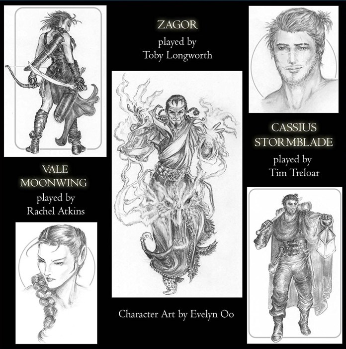The cast and characters of The Warlock of Firetop Mountain (c) Fighting Fantasy
