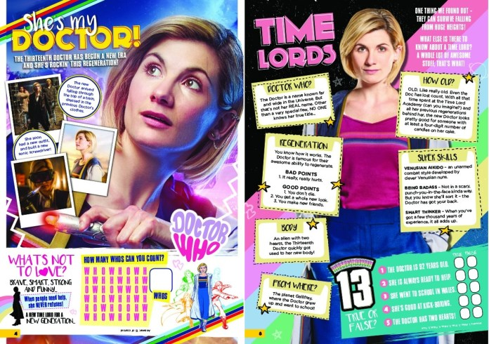 Pages 4 and 8 of the Doctor Who Adventures Special (c) BBC Studios