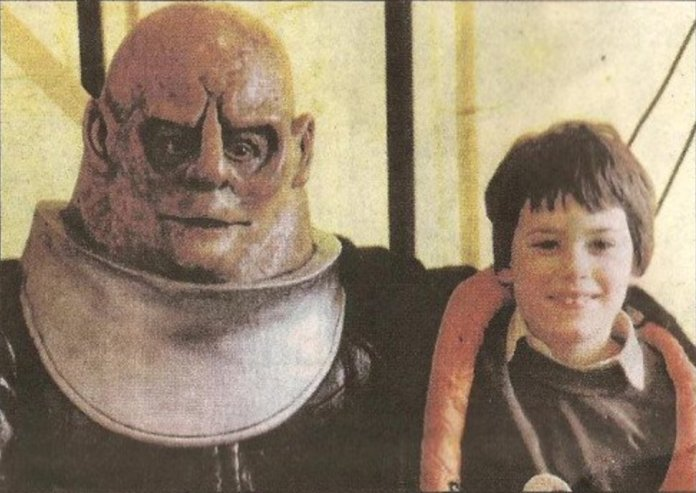 Edgar Wright at Doctor Who convention, aged 9