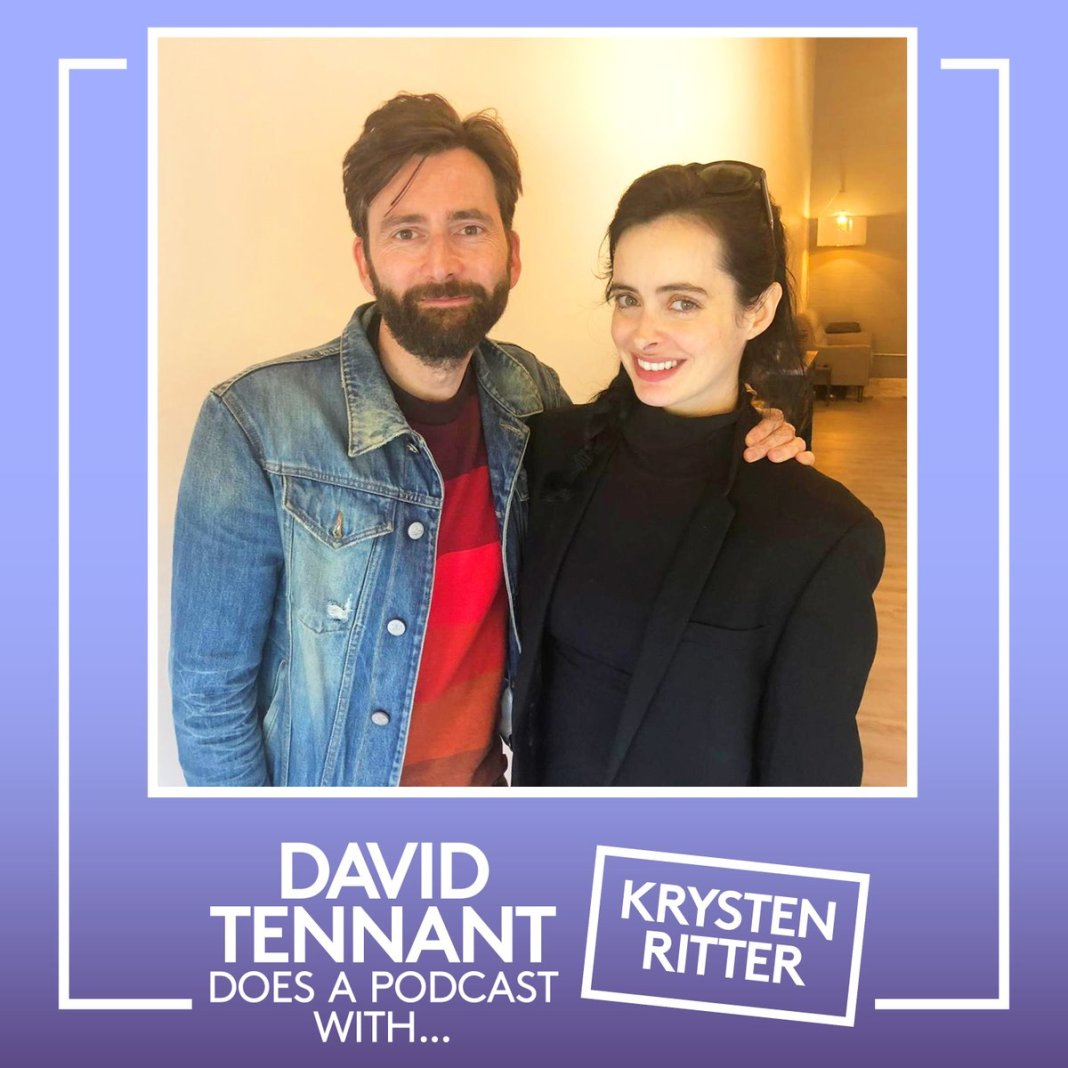 Former Doctor Who David Tennant continues his podcast with a chat to Jessica Jones co-star Krysten Ritter (c) Something Else and No Mystery