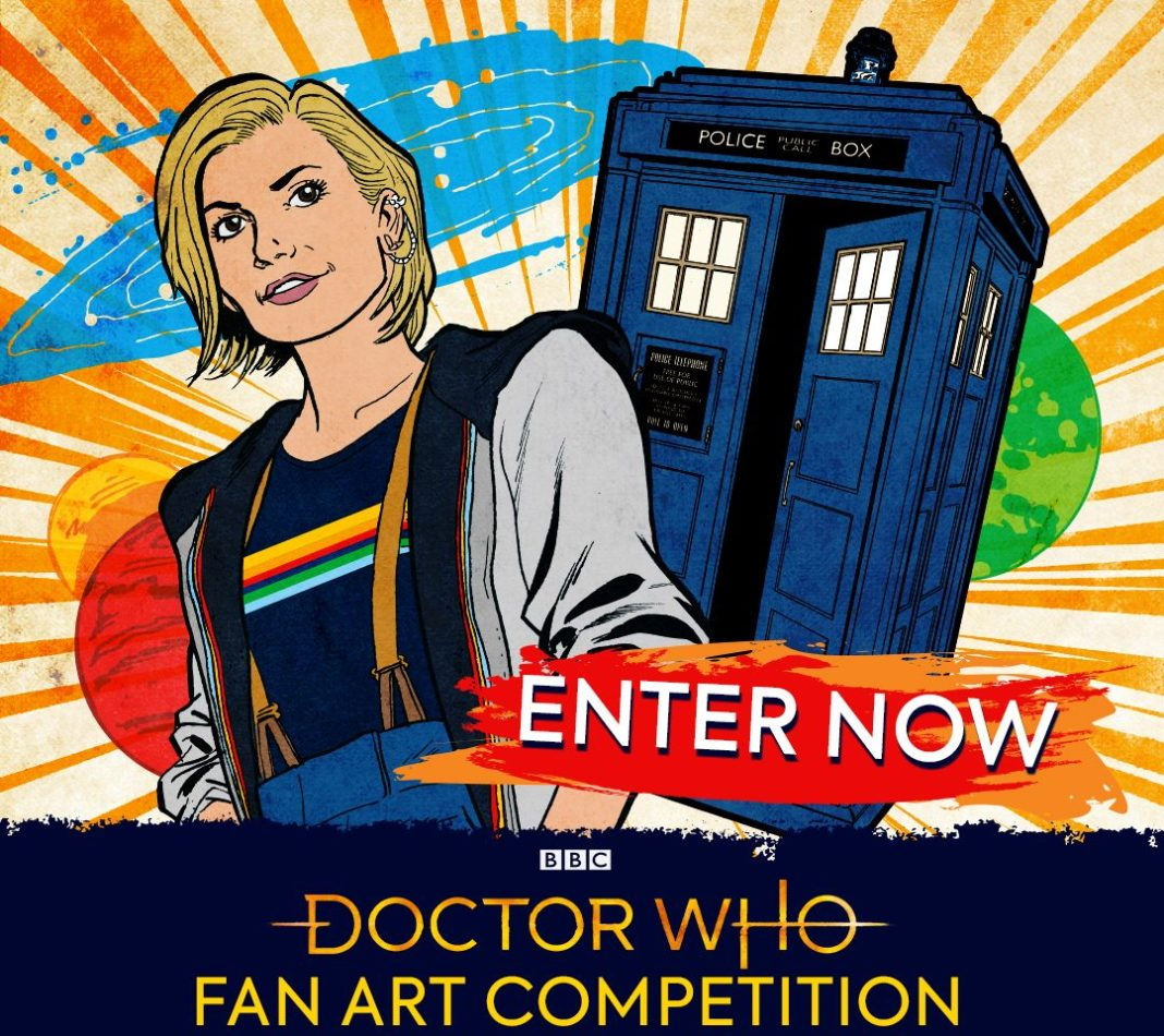 Promotional art for the Doctor Who Fan Art Competition 2019 (c) BBC Studios