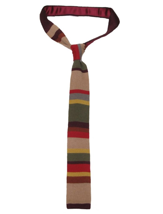 The Fourth Doctor knitted tie by Lovarzi (c) Lovarzi