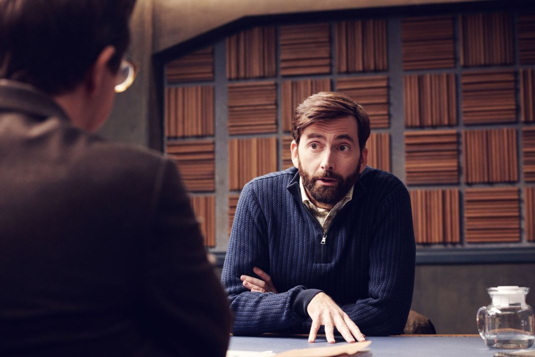 Former Doctor Who David Tennant stars in Criminal, the tense new crime drama from Netflix (c) Netflix