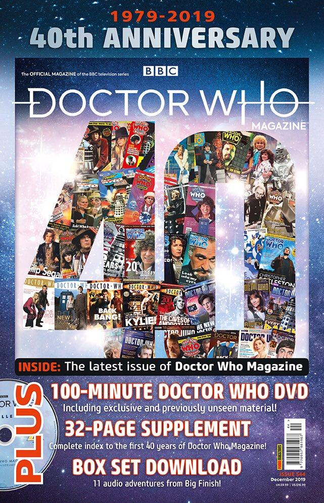 The Polybag cover of Doctor Who Magazine #544 (c) Panini