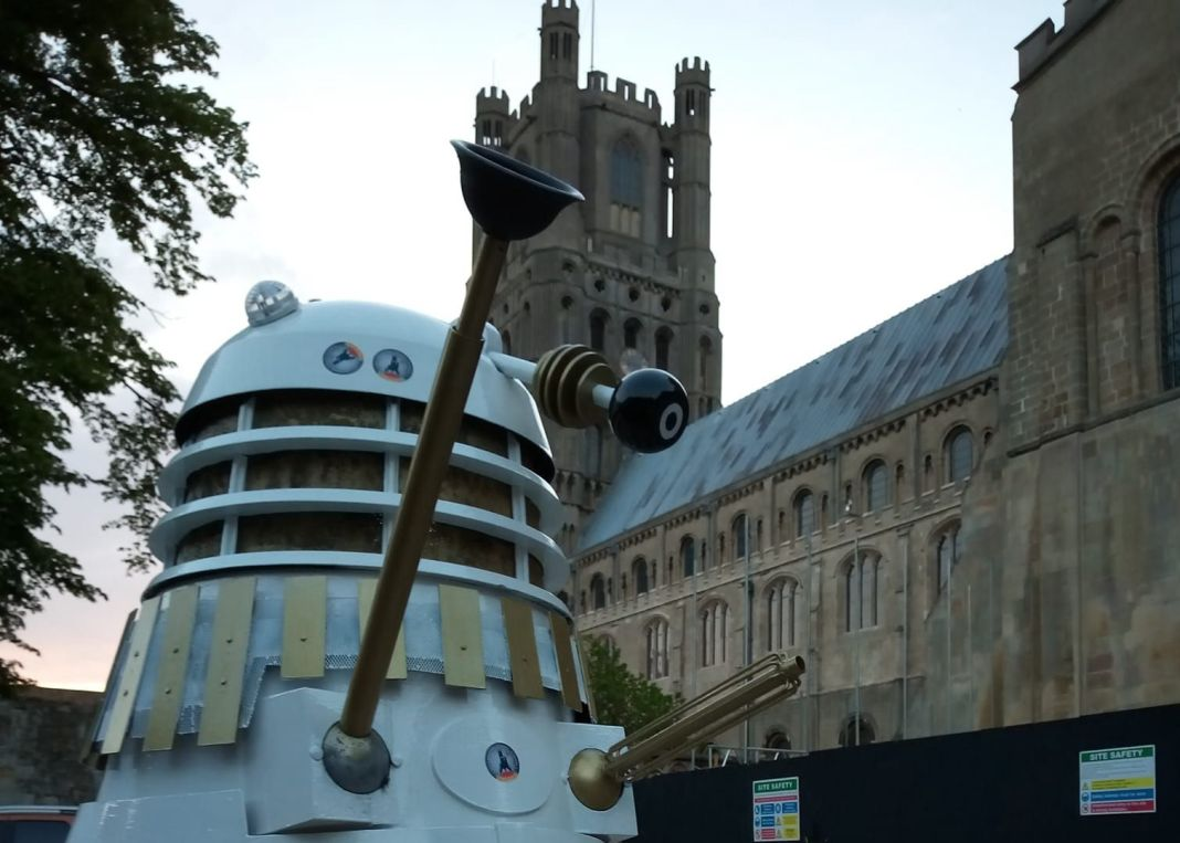 A Dalek at Ely Cathedral for Frank Danes' Doctor Who talk (c) Frank Danes