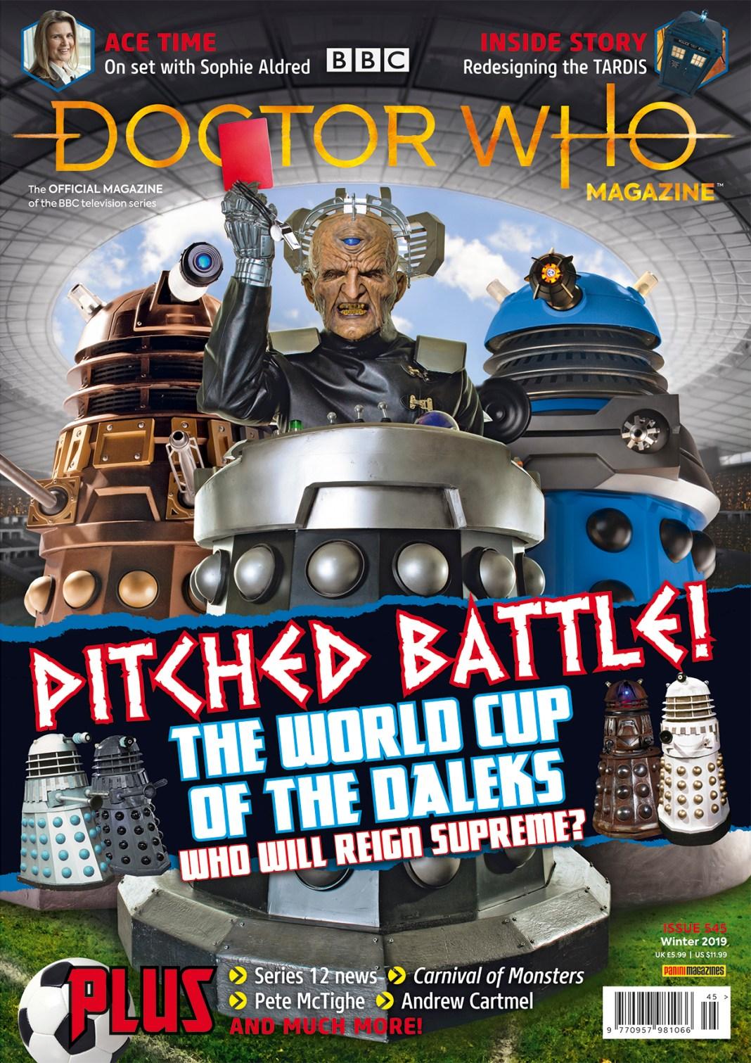 Doctor Who Magazine Issue 545 cover. (c) BBC Studios/Panini
