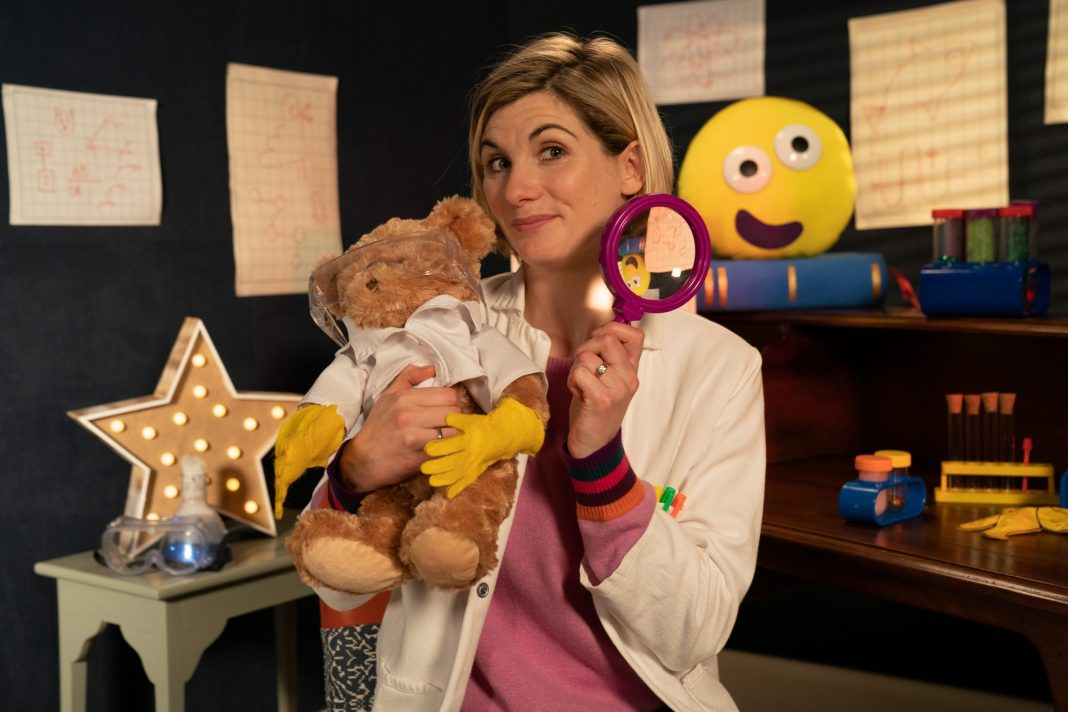 Programme Name: CBeebies Bedtime Stories - TX: 07/12/2018 - Episode: Bedtime Stories - Doctor Who's Jodie Whittaker (No. n/a) - Picture Shows: Jodie Whittaker reads Ada Twist, Scientist by Andrea Beaty for Cbeebies Bedtime Stories Jodie Whittaker - (C) BBC - Photographer: Pete Dadds