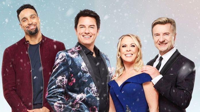 The Ice Panel of judges from Dancing on Ice, now with added Barrowman (c) ITV