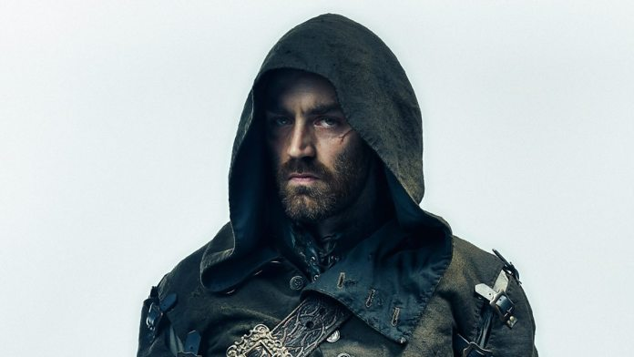 Praxeus guest star Matthew McNulty as Lucien Grimaud, the central antagonist in The Musketeers Series 3 (c) BBC