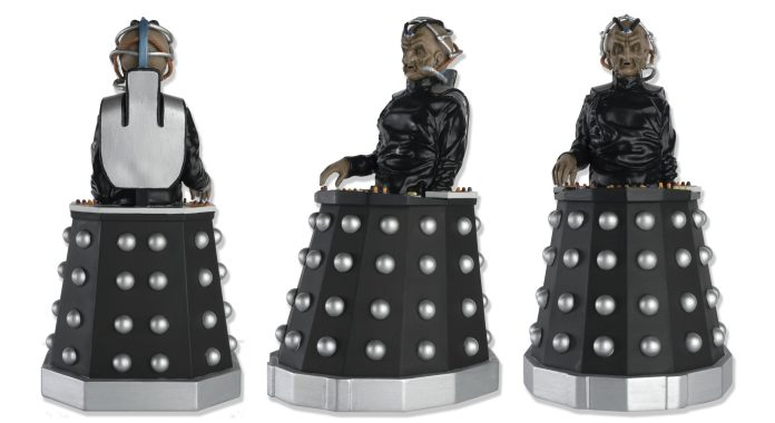 The Mega Davros figure from Hero Collection, as seen from different angles (c) Hero Collector
