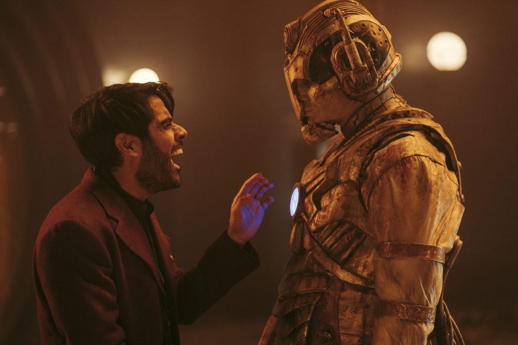 Doctor Who - S12E10 - The Timeless Children - Sacha Dhawan as The Master, Patrick O'Kane as Ashad- Photo Credit: James Pardon/BBC Studios/BBC America
