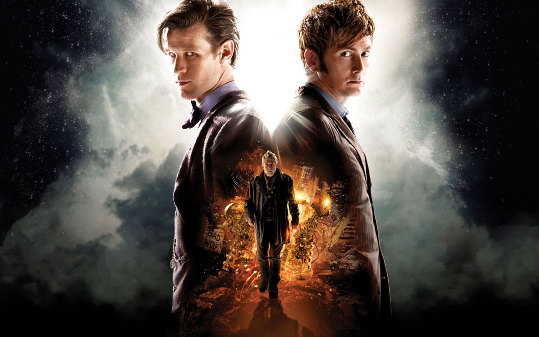 The Day of the Doctor unites David Tennant, Matt Smith, and Sir John Hurt in the most epic Doctor Who adventure of all time (c) BBC Studios Save the Day SavetheDay