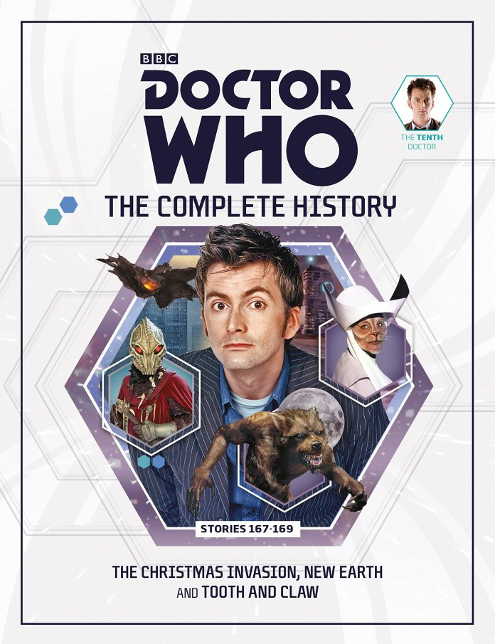 Cover to Doctor Who: The Complete History #7 (c) Panini/Hatchett Tenth Doctor Sycorax Christmas Invasion Tooth and Claw New Earth