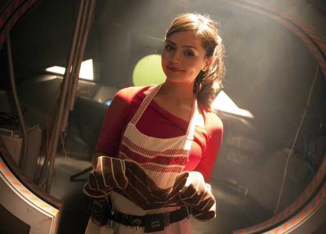 Oswin keeps herself busy in over a year of isolation by cooking souffles. (c) BBC Studios Doctor Who Clara Oswald Asylum of the Daleks