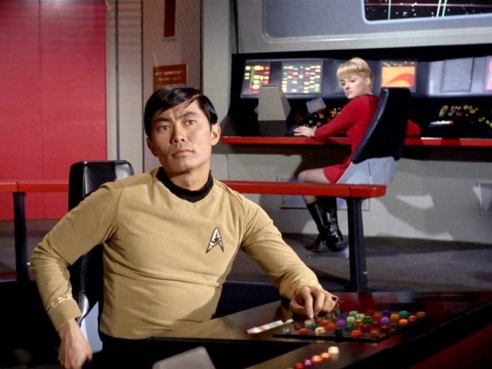 Takei found fame as Hikaru Sulu in three seasons of Star Trek, before returning for six movies and an episode of spin-off Star Trek: Voyager (c) Paramount CBS