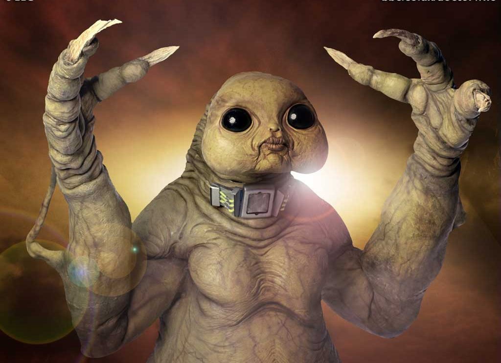 Madquake features the return of the Slitheen, first introduced on television in 2005 c) BBC Studios Doctor Who