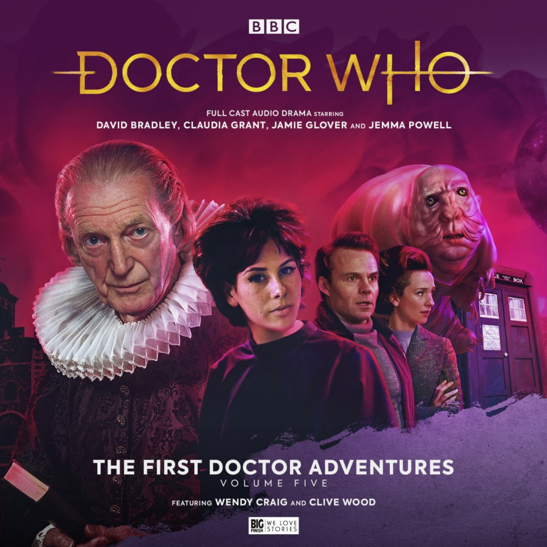 Doctor Who: The First Doctor Adventures Series Five (c) Big Finish Productions David Bradley Susan Foreman Ian Chesterton Barbara Wright Claudia Grant Jemma Powell Jamie Glover Elizabeth I Shakespeare