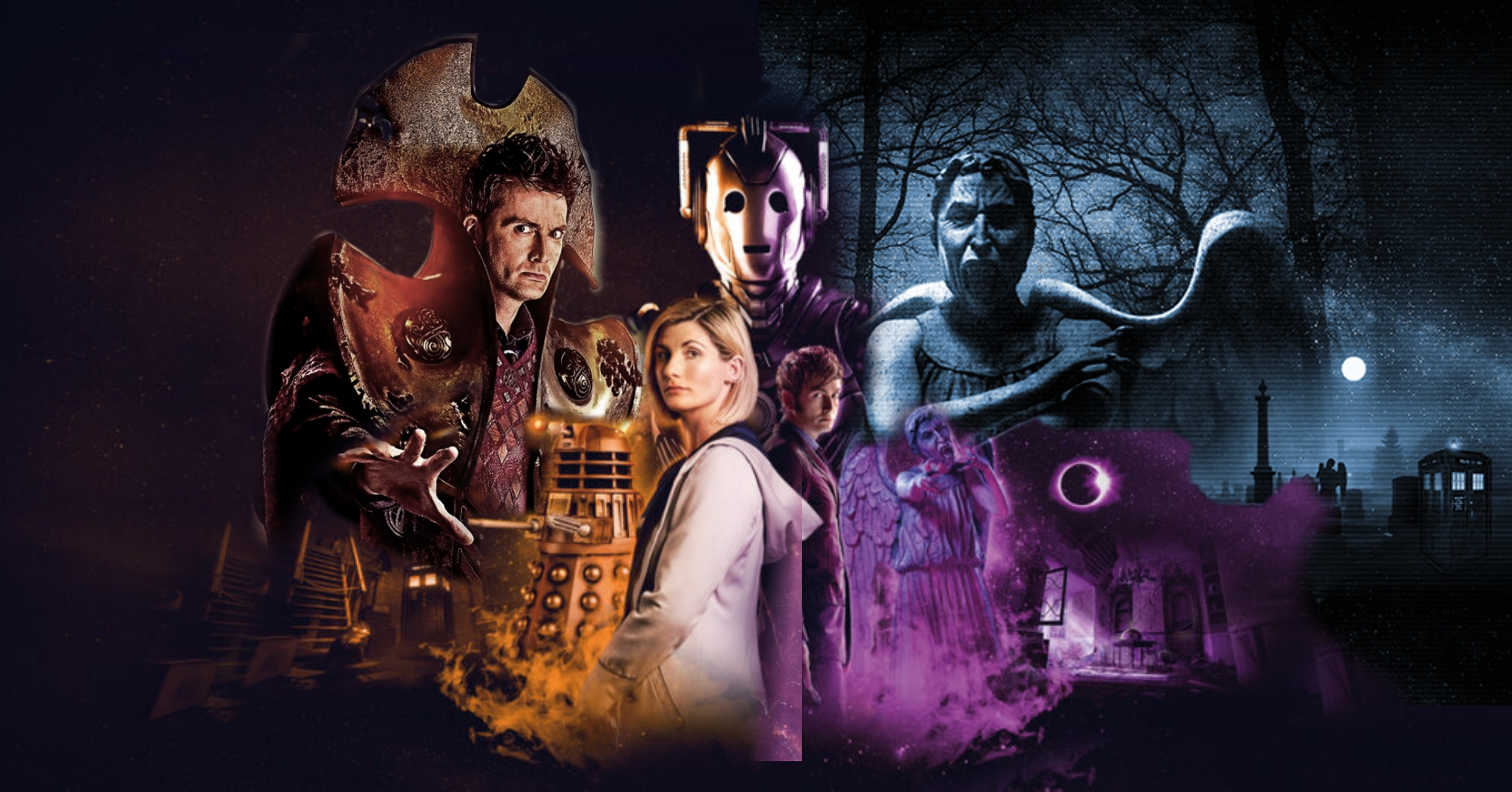 Doctor Who: The Edge of Reality, comes to PCs and Consoles in Spring 2021 (c) Maze Theory Gaming Thirteenth Doctor Tenth Doctor Daleks Cybermen Weeping Angels