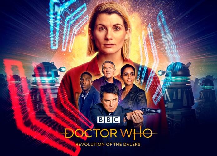 Doctor Who: Revolution Of The Daleks (C) BBC Studios - Photographer: Ben Blackall/James Pardon Thirteenth Doctor New Year's Day Captain Jack Harkness Yaz Graham Ryan