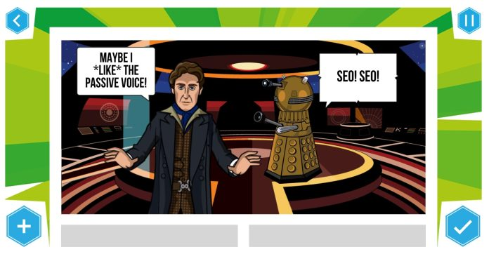 A panel from Blogtor Whos own effort - Day of the Blogtor c) BBC Studios/Blogtor Who Doctor Who Time Lord Victorious