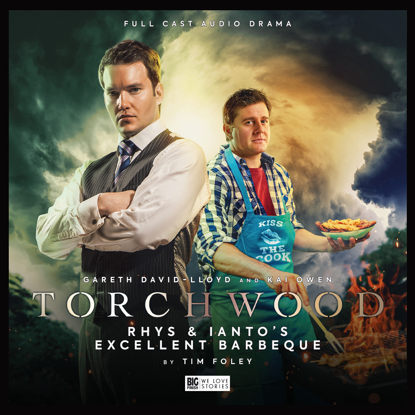 Torchwood: Rhys and Ianto's Excellent Barbecue. Cover by Lee Binding. (c) Big Finish Productions Ianto Jones Rhys Williams Gareth David-Lloyd Kai Owen
