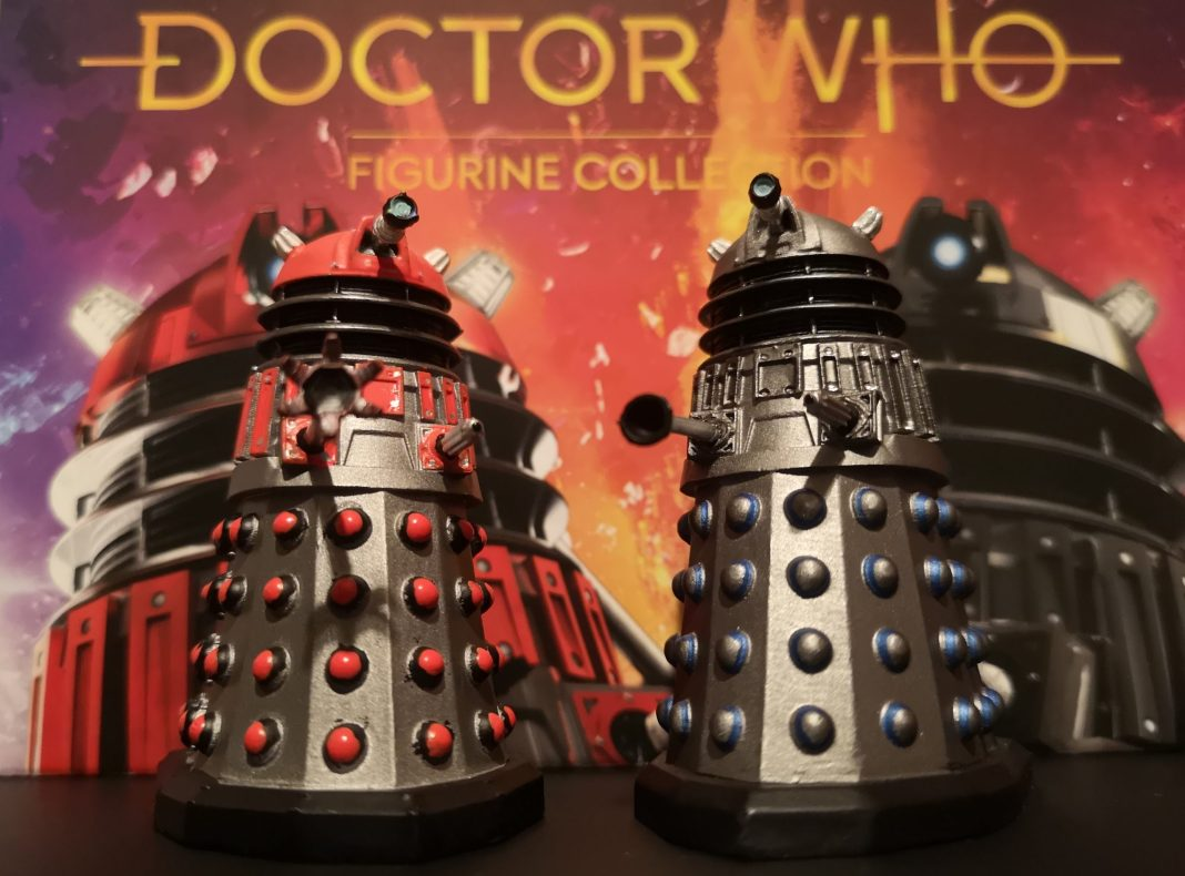 The Dalek Scientist and Time Commander from Doctor Who: Time Lord Victorious #2 (c) Blogtor Who Hero Collection Eaglemoss