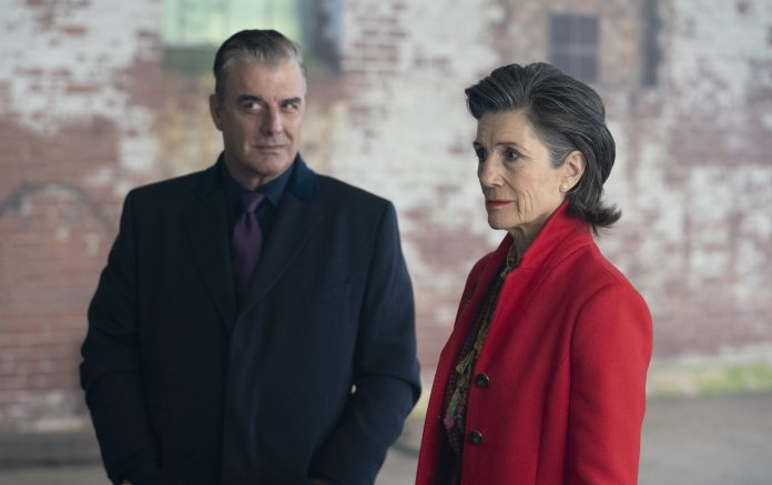 An alliance of evil? Jack Robertson (CHRIS NOTH), returns, now in an alliance with British PM Jo Patterson (DAME HARRIET WALTER) - (C) BBC Studios - Photographer: James Pardon Doctor Who Revolution of the Daleks