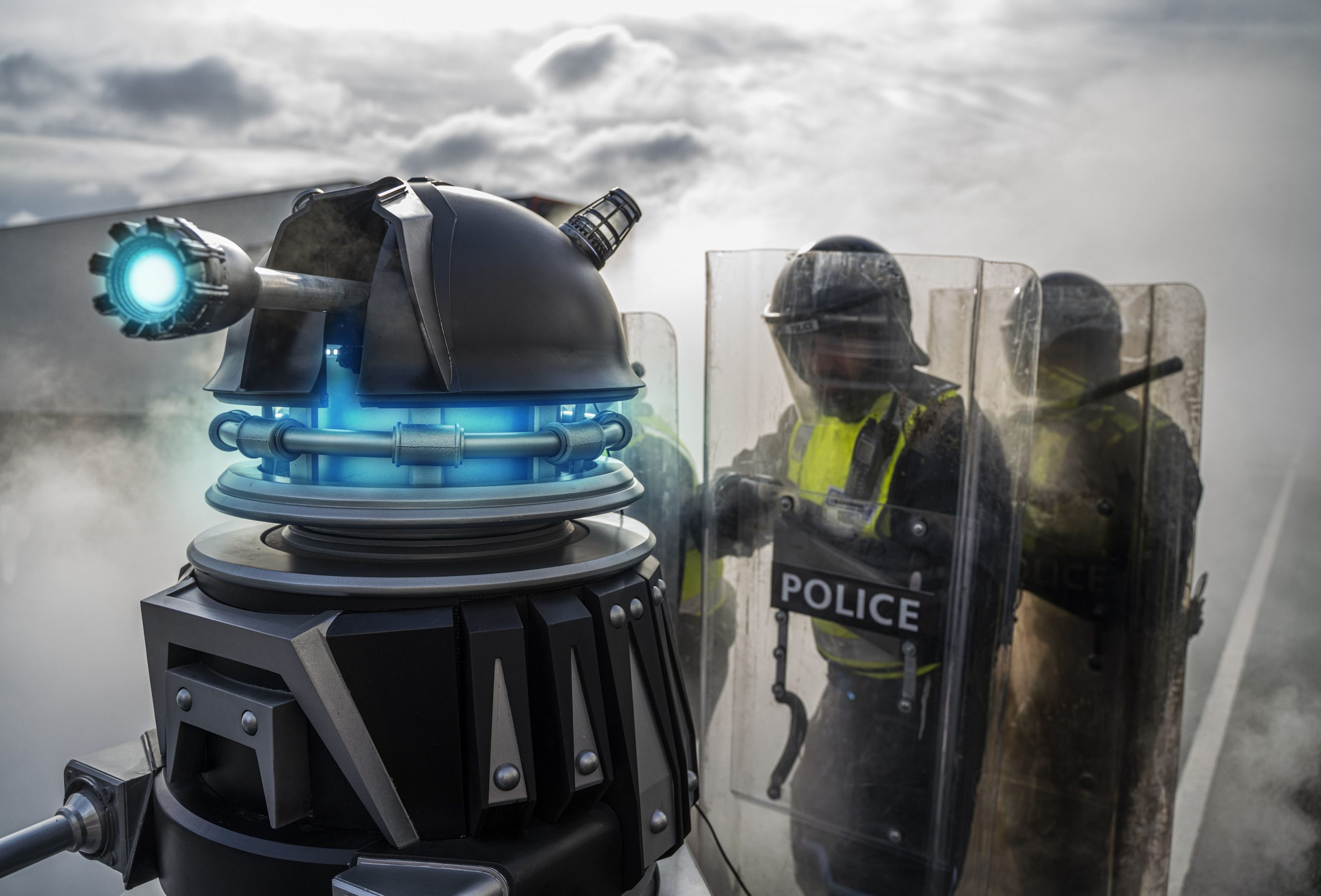 Corrupt billionaire Jack Robertson (CHRIS NOTH) returns in Revolution of the Daleks - (C) BBC - Photographer: Ben Blackall Doctor Who