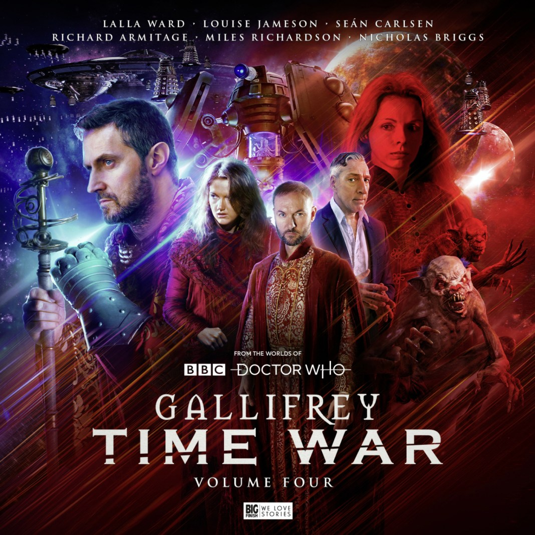 Gallifrey: Time War 4. Cover by Tom Newsom (c) Big Finish Productions Doctor Who Rassilon Leela Romana