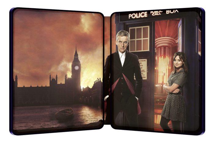 Doctor Who Series 8 Steelbook interior(c) BBC Studios Twelfth Doctor Clara Oswald Missy Michelle Gomez Peter Capaldi Jenna Coleman Blu-ray