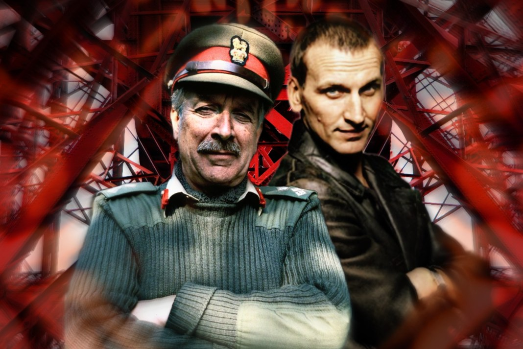 The Ninth Doctor (Christopher Eccleston) will join forces with the Brigadier (Jon Culshaw) for the Ninth Doctor Adventures Volume Four. Image edit (c) Blogtor Who Doctor Who Forth of Firth Big Finish