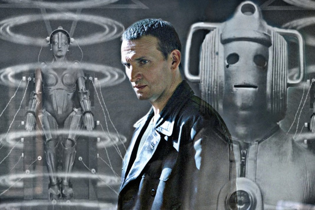 Christopher Eccleston finally encounters the Cybermen in Doctor Who: The Ninth Doctor Adventures Volume Three. Image edit (c) Blogtor Who Cyberman Metropolis Maria robot Fritz Lang