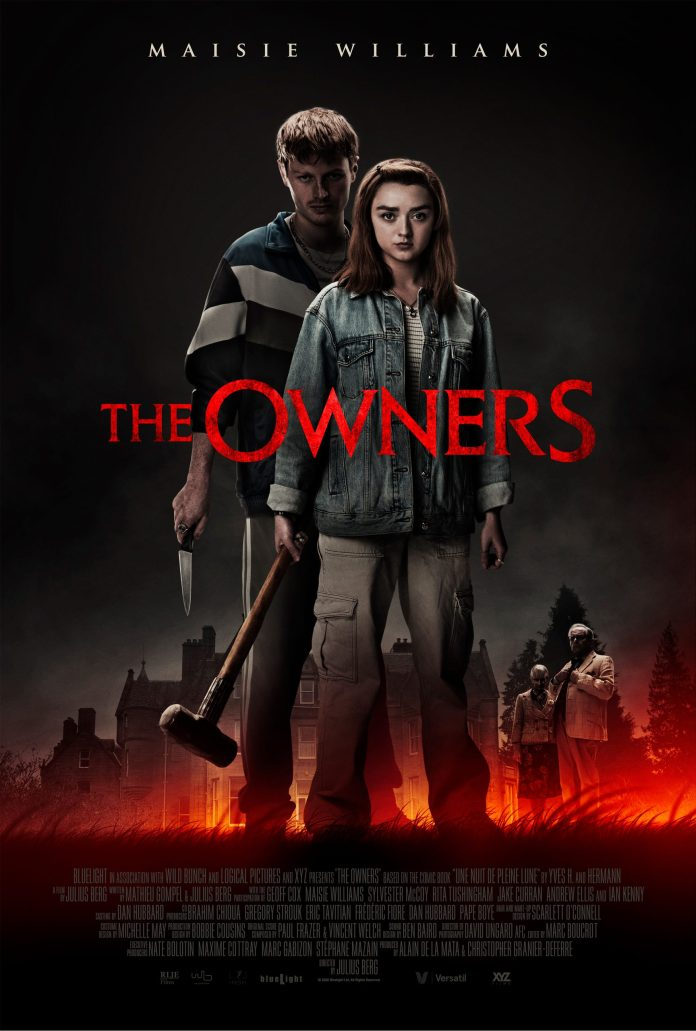 Maisie Williams (Mary), Ian Kenny (Nathan), Sylvester McCoy (Dr. Huggins) and Rita Tushingham (Ellie Huggins) in The Owners (c) Blue Light/Logical Pictures/Wild Bunch Doctor Who Seventh Doctor Arya Stark Game of Thrones