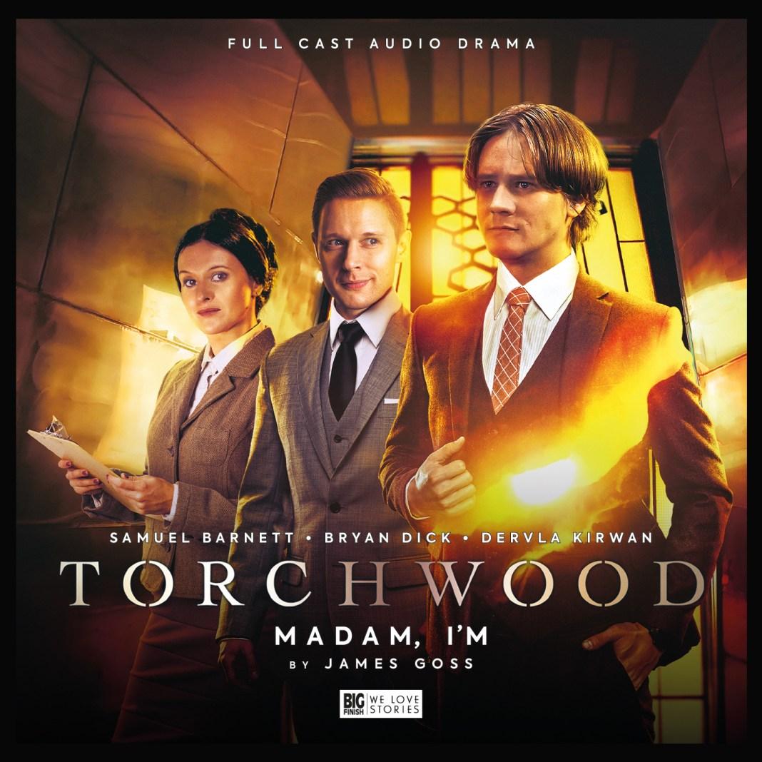 Torchwood: Madam I'm. Cover by Lee Binding. (c) Big Finish Productions Doctor Who Adam Norton Folgate Torchwood S2 Samuel Barnett Dervla Kirwan Big Finish