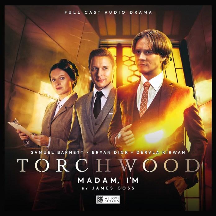Torchwood: Madam I'm. Cover by Lee Binding. (c) Big Finish Productions Doctor Who Adam Norton Folgate Torchwood S2 Samuel Barnett Dervla Kirwan