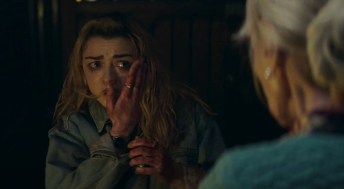 Mary (Maisie Williams) realizes that her troubles may be only beginning as she faces the wrath of Mrs. Huggins (Rita Tushingham) (c) Blue Light/Logical Pictures/Wild Bunch The Owners