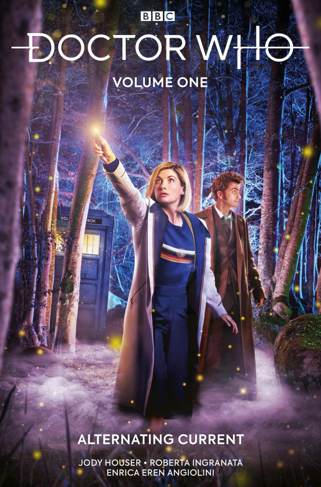 Doctor Who Volume One: Alternating Current. Cover by Andrew Leung, (c) Titan Comics Tenth Doctor Thirteenth Doctor Jody Houser