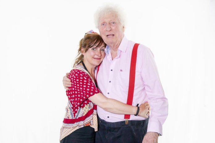 Jane Slavin and Tom Baker (c) Paul Midcalf Doctor Who Fourth Doctor Anya Kingdom Dalek Protocol Dalek Universe