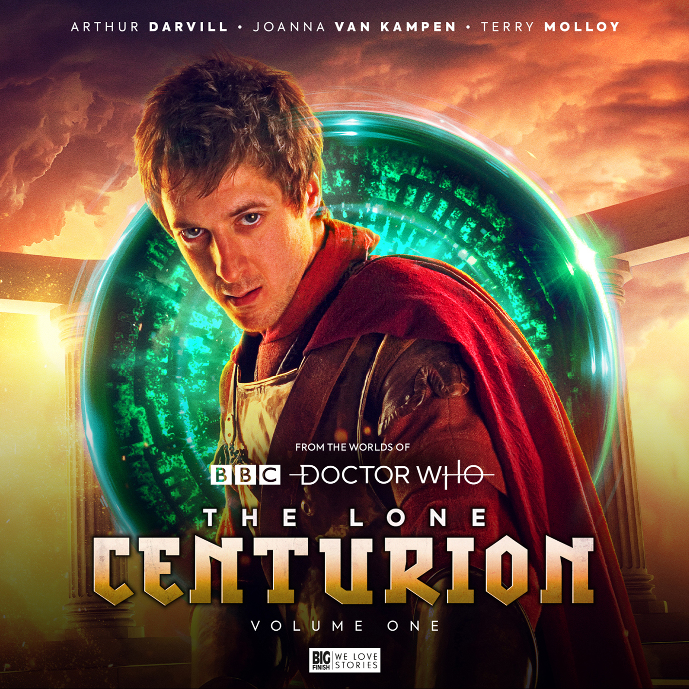 The Lone Centurion Volume One: Rome. Cover by Tom Webster (c) Big Finish Productions Doctor Who Pandorica Rory Williams Arthur Darvill